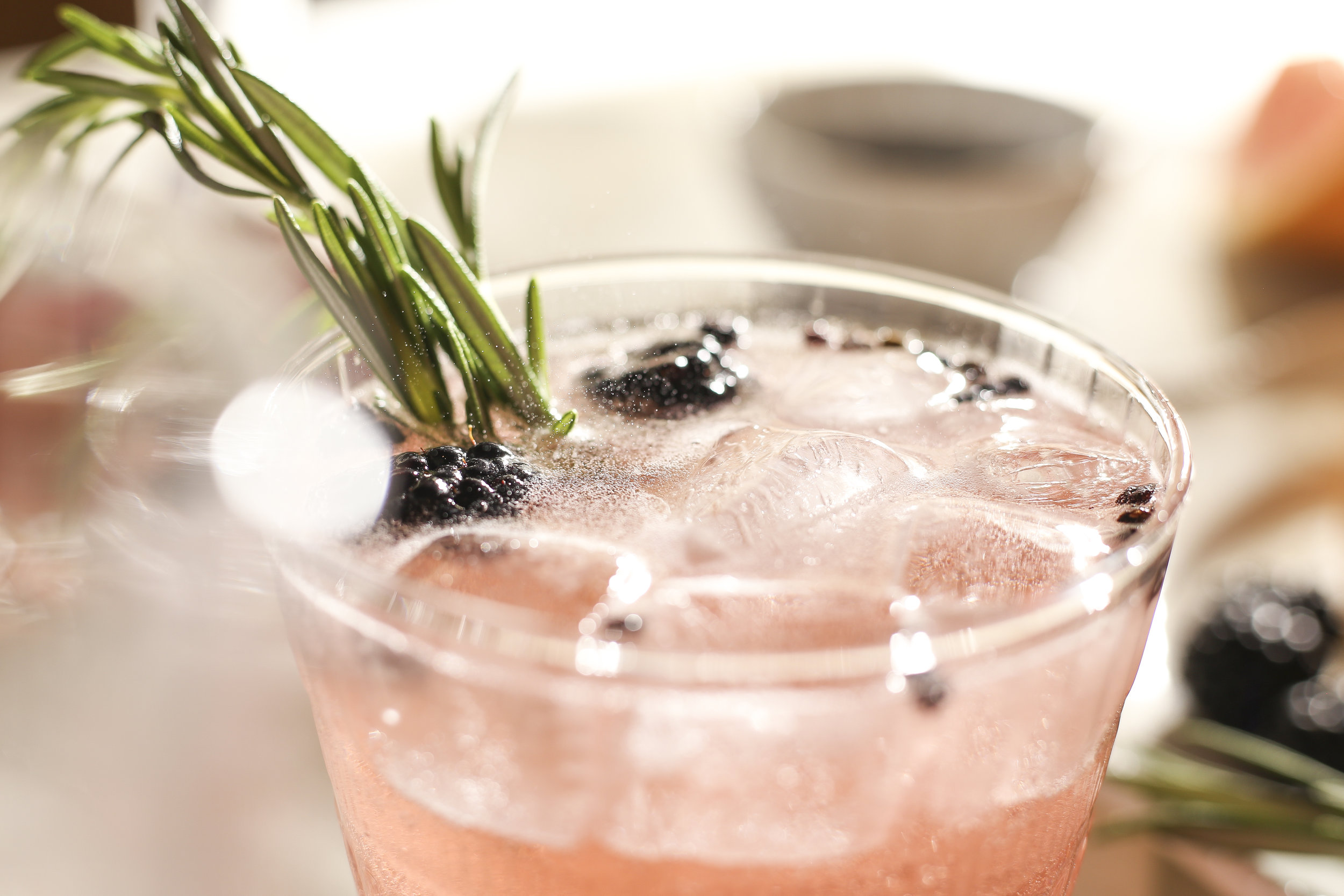 Grapefruit rosemary spritz cocktail