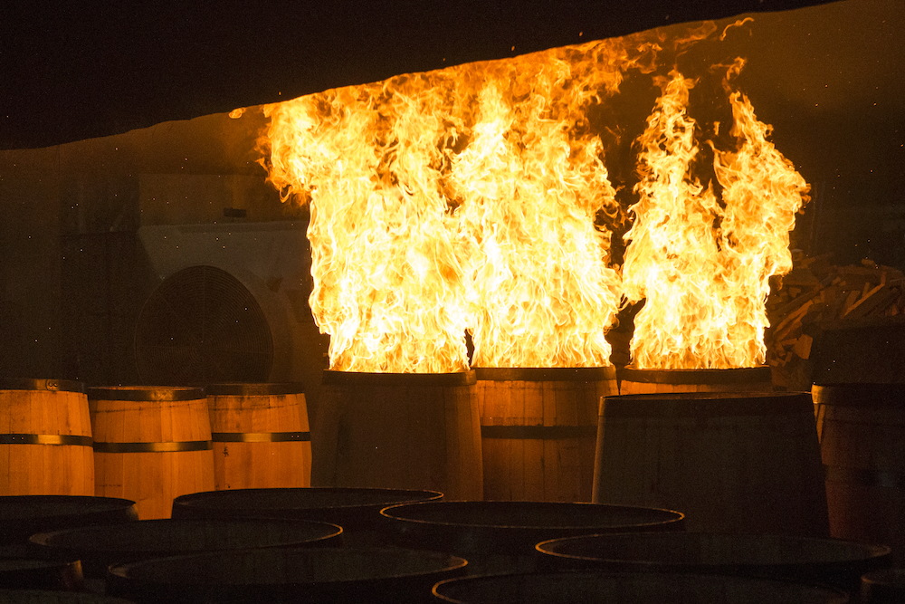 Kelvin Cooperage barrel toasting