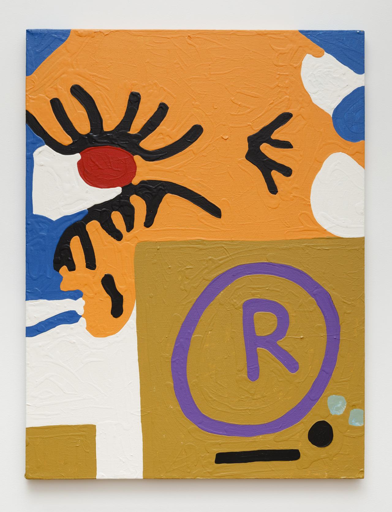 "Untitled , Marlon Mullen, acrylic on canvas, 30"" x 40"", 2014"