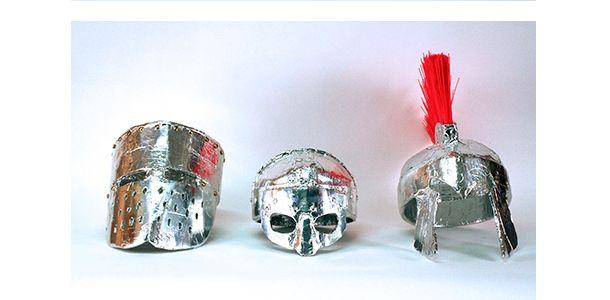 various mixed media helmets