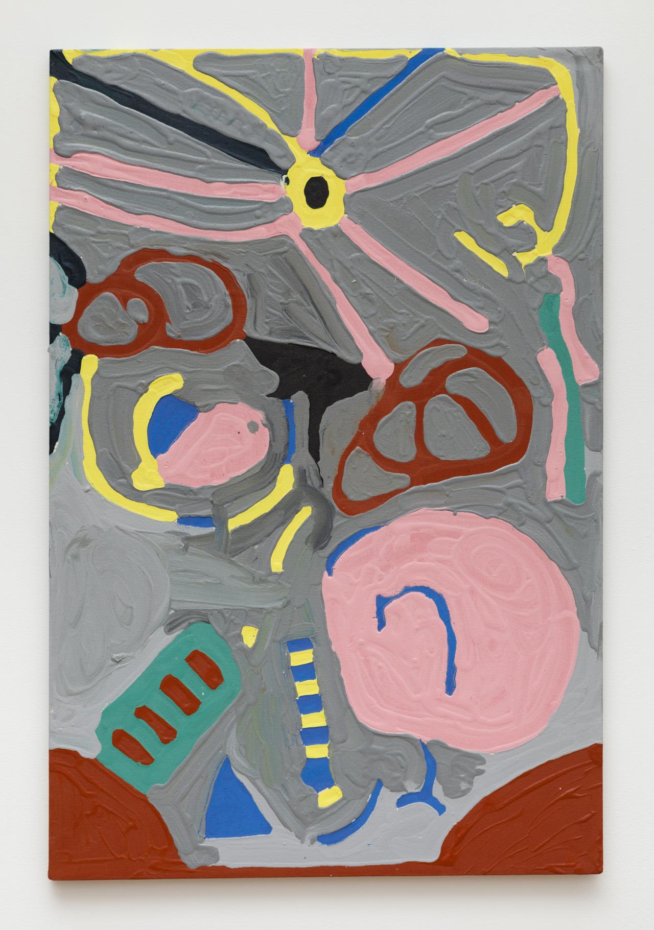 "Nancy Graves, acrylic on canvas, 36"" x 24"", 2014"