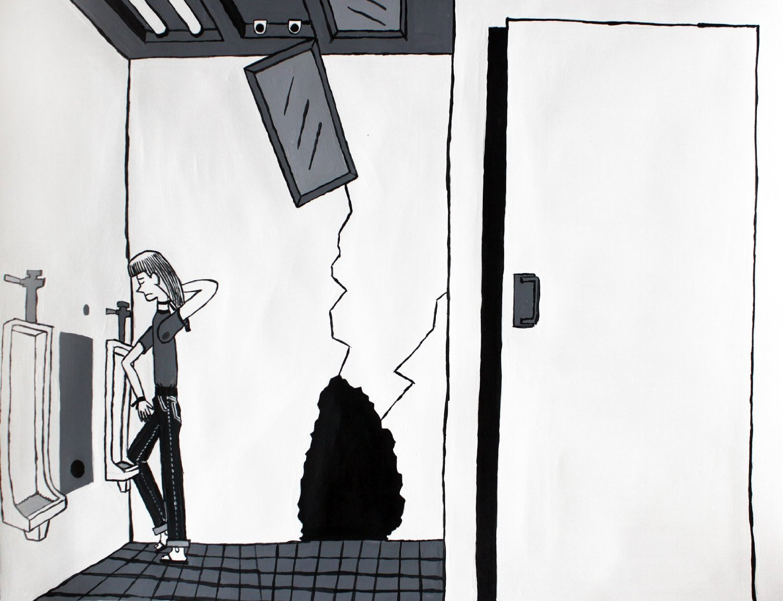 "Loner, Acrylic, 18"" x 24"" 2012"