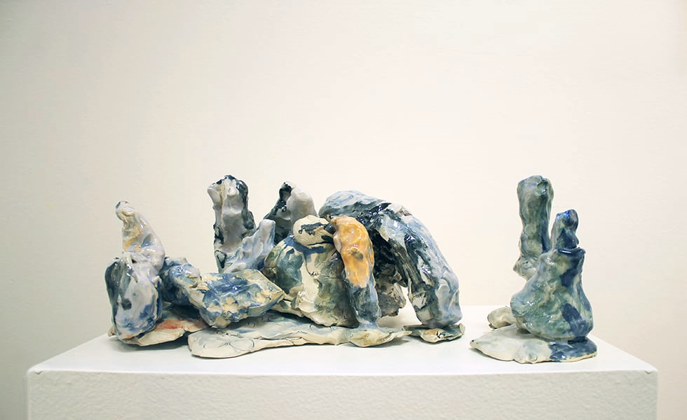 Mirov Menefee,  Untitled , ceramic, dimensions variable, 2015