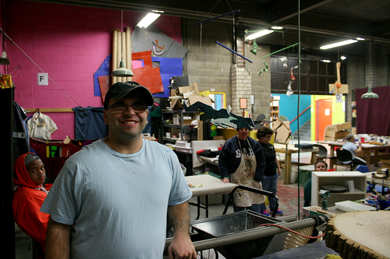 The studio at the Center For Creative Works in Philadelphia PA is a rich creative community