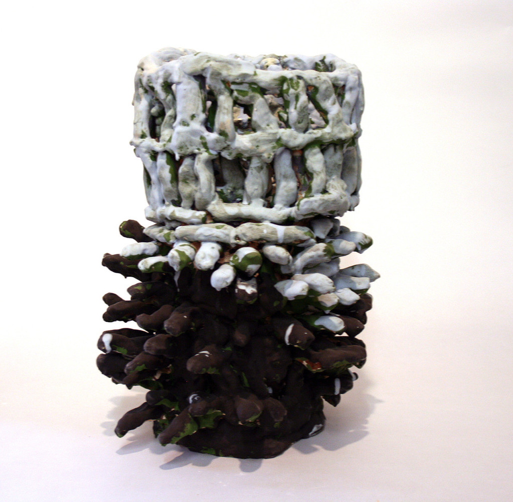 "Untitled,  glazed ceramic, 17"" x 11"" x 11"", 2015"