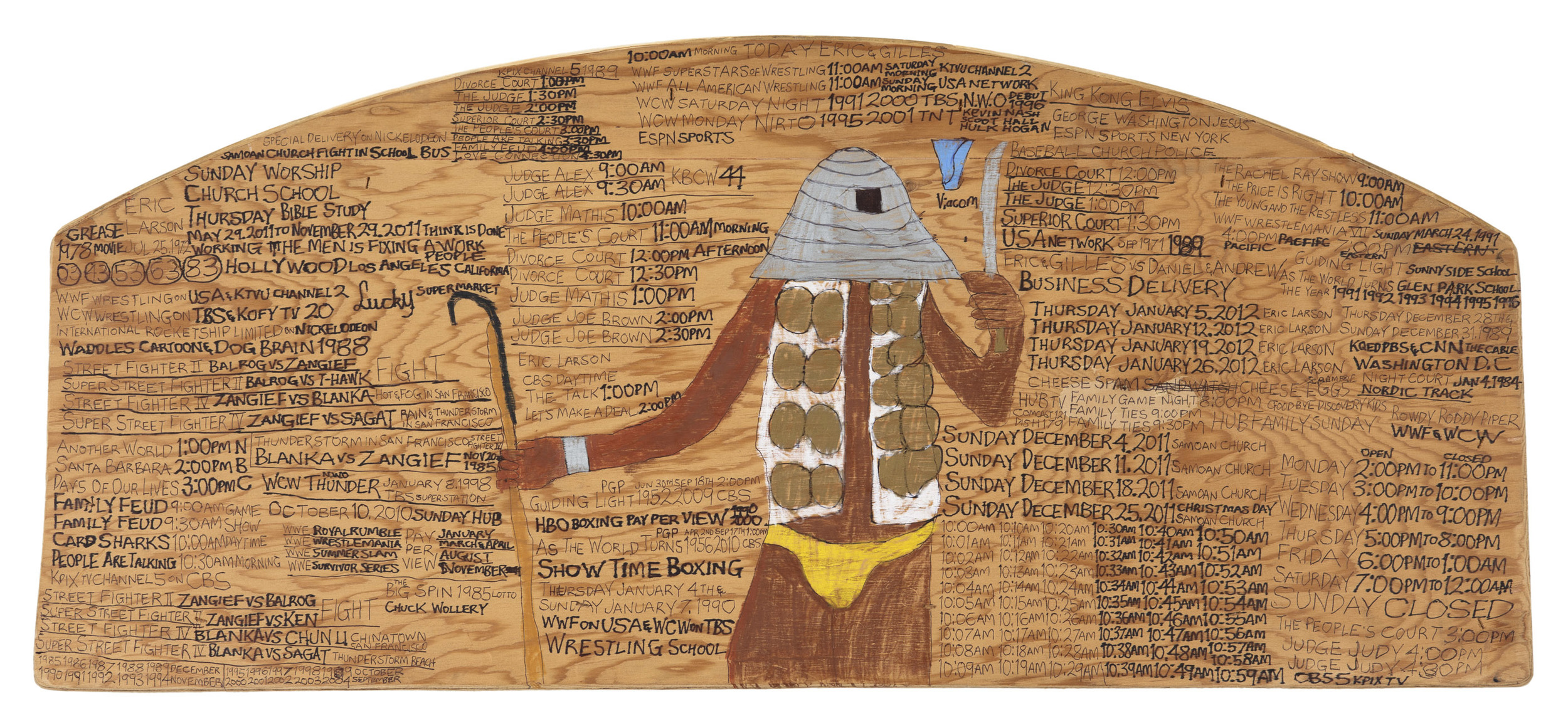 Daniel Green,  Business Delivery , 2011, Mixed media on wood, 13 x 29 x 1 inches