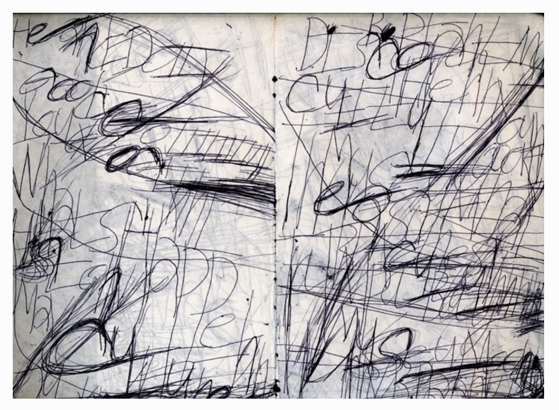 Initial text framework of Baker's drawing process