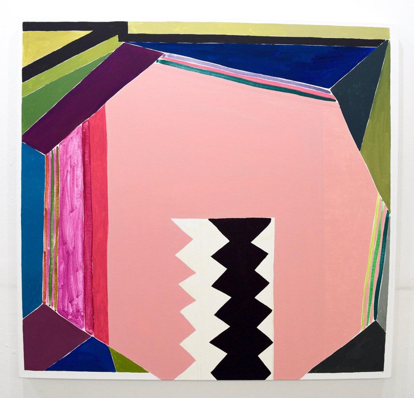 """Leslie Baum,  Full of moon: k.n,s.d , 2016, oil on canvas, 38"""" x 40"""""""