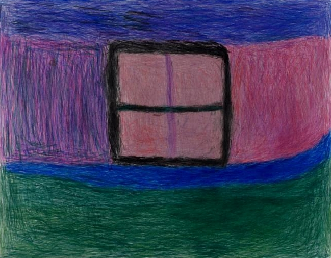 Susan Pasowicz,  A Magic Window,  2017, colored pencil on paper