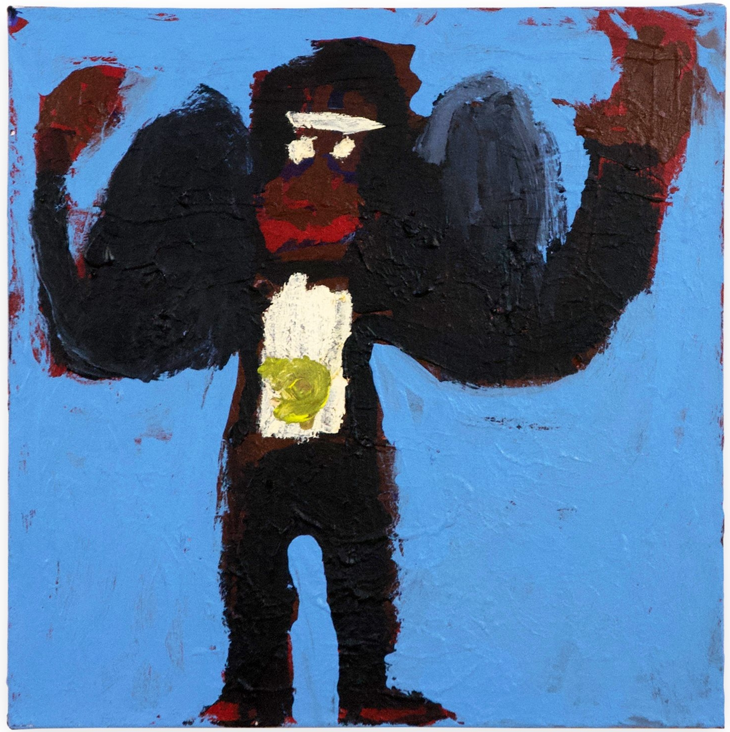 "Billy White,  King Kong , 2017, acrylic on canvas, 24"" x 24"""
