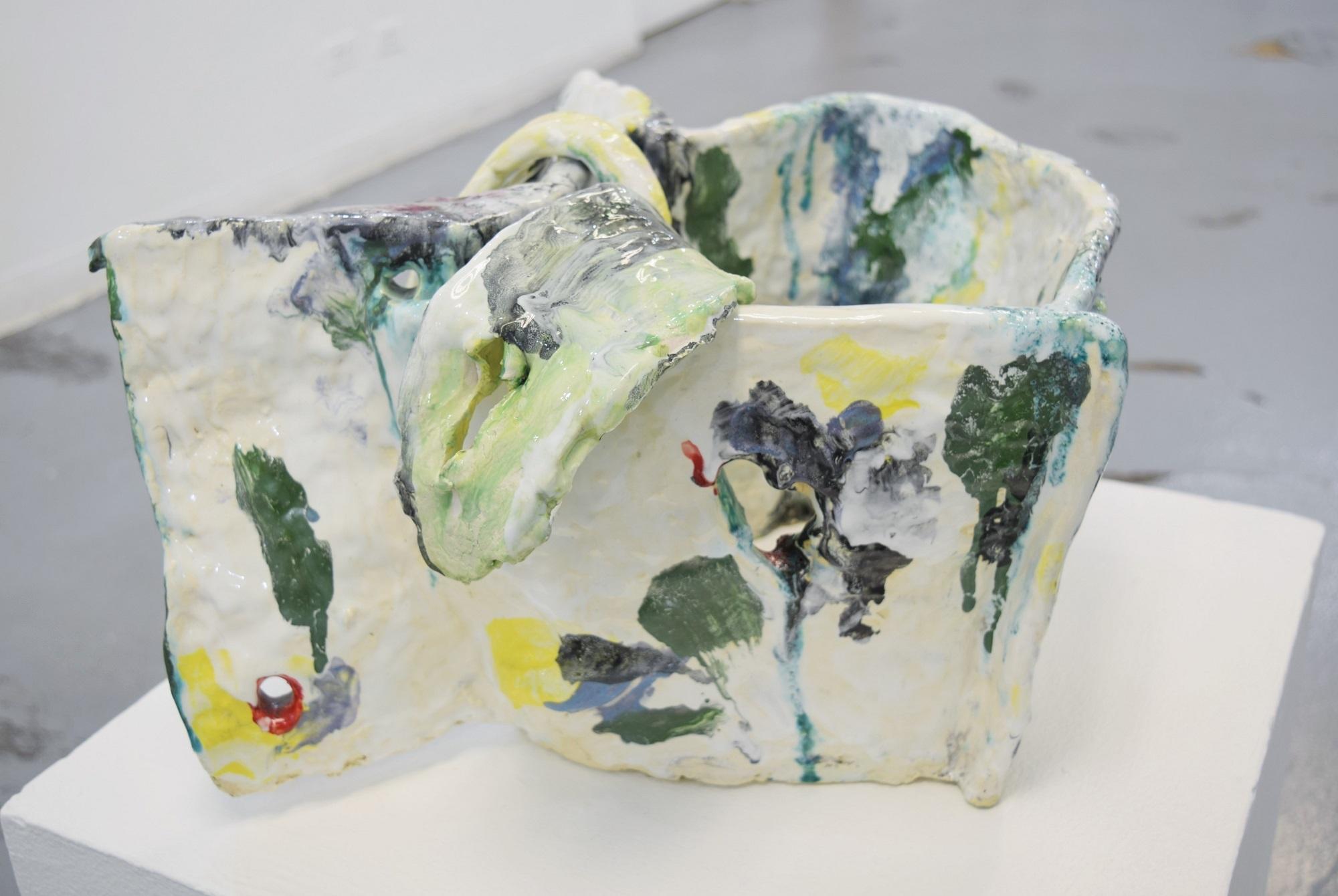 Deborah Handler,  with tongues , 2011, ceramic, dimensions variable