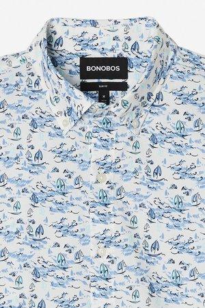 0bf98011acdc6 Bonobos Riviera Short Sleeve Shirt Bonobos Riviera Short Sleeve Blue and  White Sailing