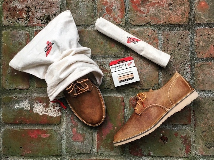 For the dad who's obsessed with keeping his shoes clean. Throw in the oxfords for bonus points.  4/15  Red Wing Boot Bags  - $13.99 | 5/15  Red Wing Suede Cleaner Kit  - $8.99 | 6/15  Red Wing Weekender Oxfords  - $219.99