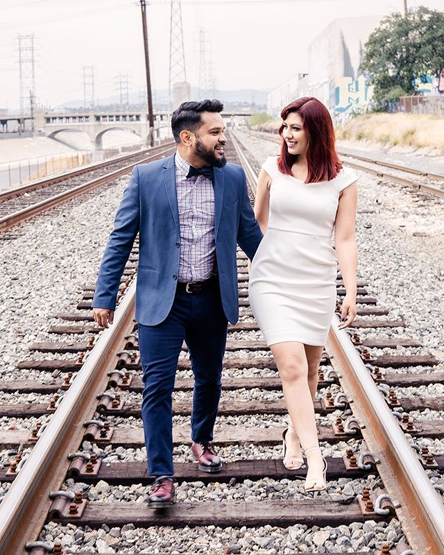 Had a blast photographing these two! Grabbed a few tiki drinks afterwards of course :) . . . #engagementshoot #engagement #engagementphotos #losangelesphotos #lariver #downtownla #gettingmarried #tyingtheknot #rocknrollbride #rocknrollgroom #engagementpics #wedding #savethedatephotos