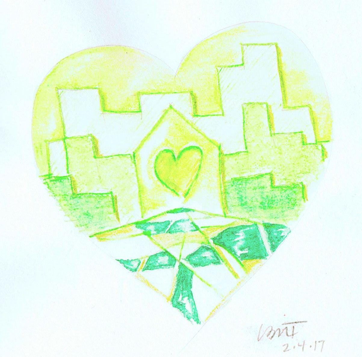 Green-Heart-Town-watercolor-pencil-mod