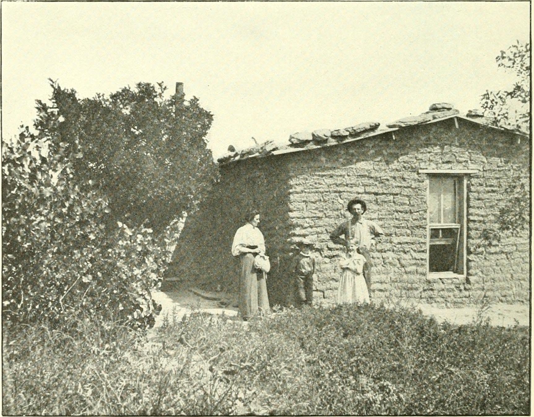 early-sod-house-family