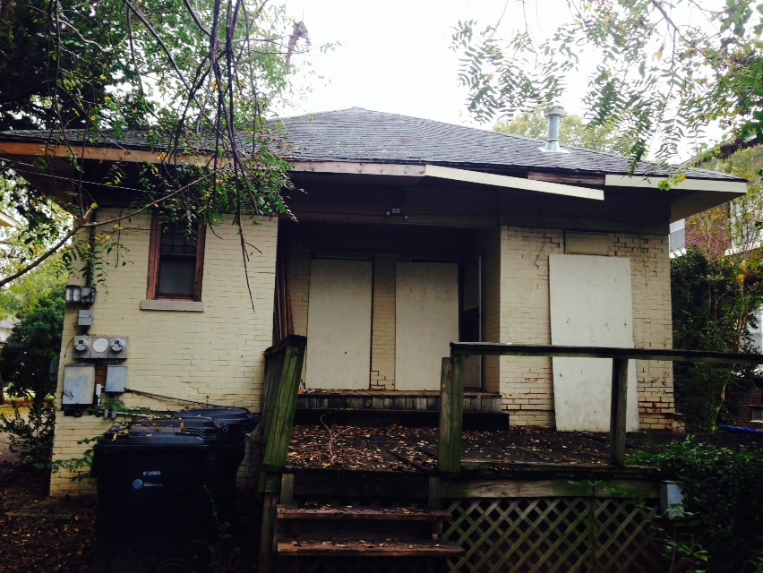 North elevation of duplex (rear). Photo by owner.