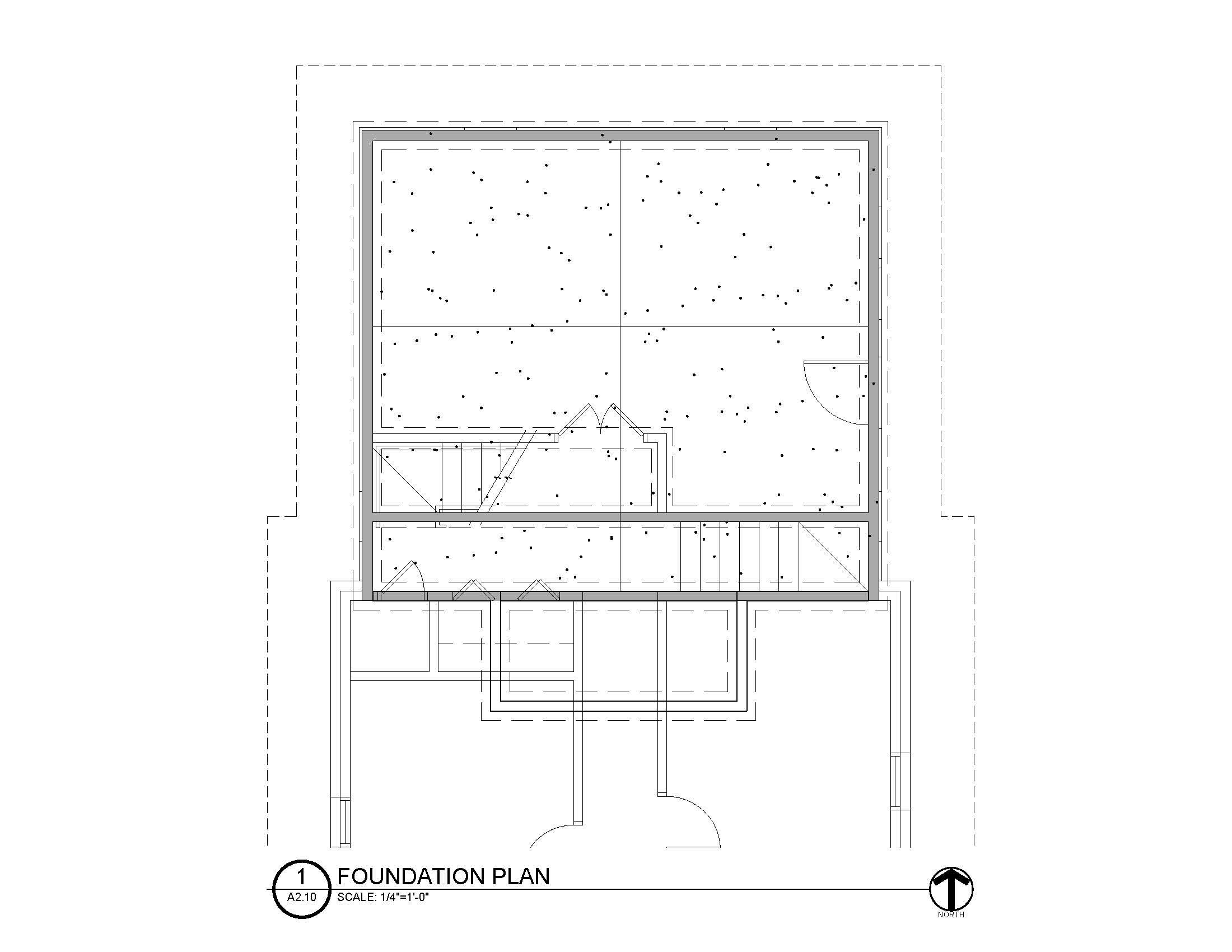 Foundation Plan (sans dimensions/notations)
