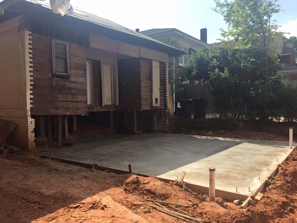 Photo: Red Door Investments. New slab poured