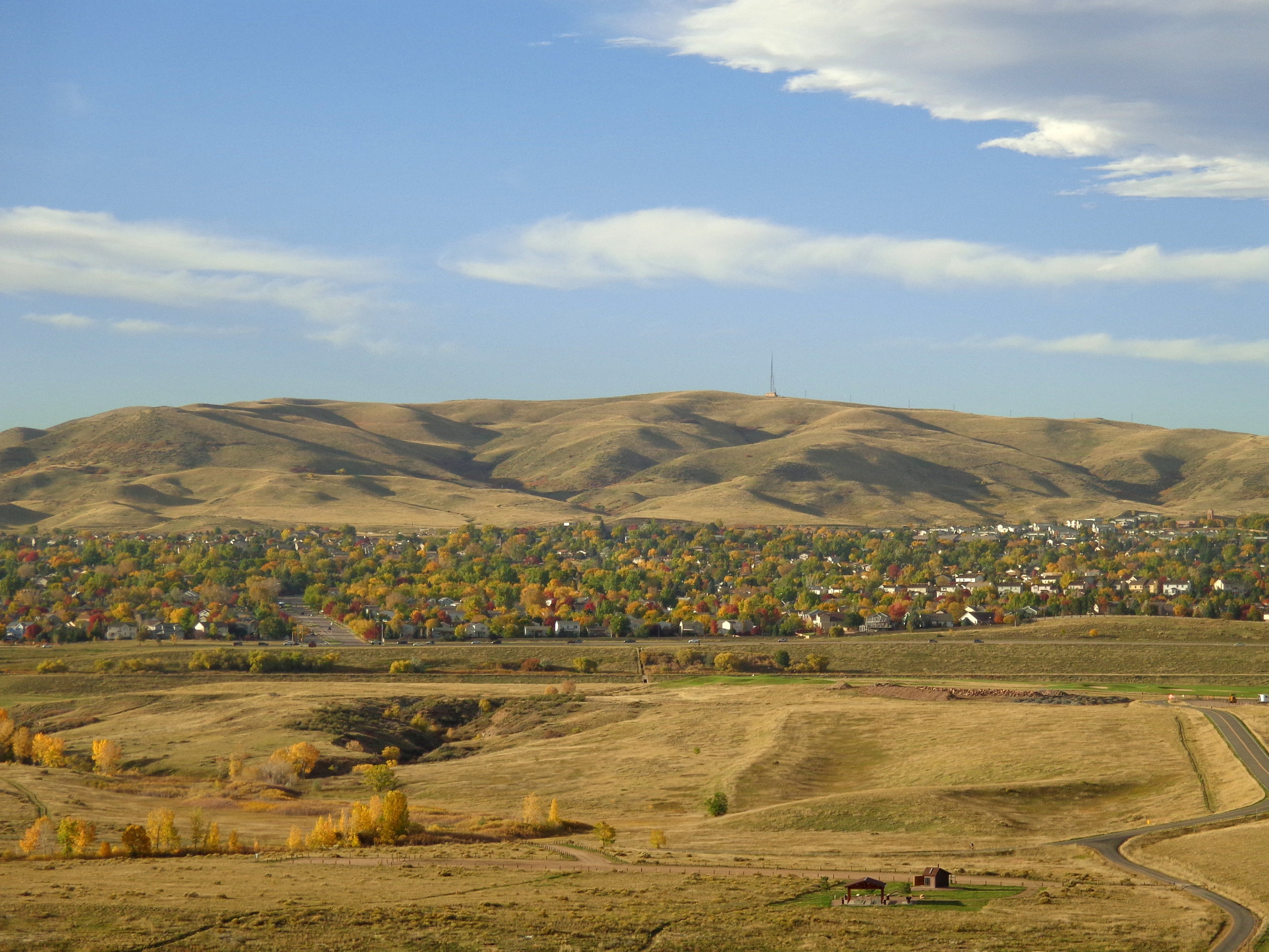 South side of Green Mountain in Lakewood, from the top of Mt. Carbon in Bear Creek Lake Park. We live in this foothills neighborhood. Photo courtesy photos-public-domain.com