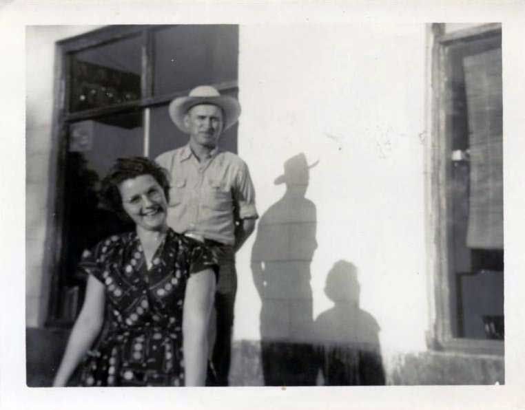 My Grandparents after moving back to Cameron, Oklahoma.