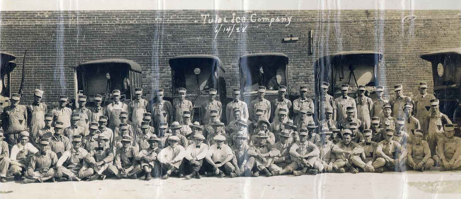 Tulsa Ice Co. (1928)  This was taken several years before my Grandfather was employed.