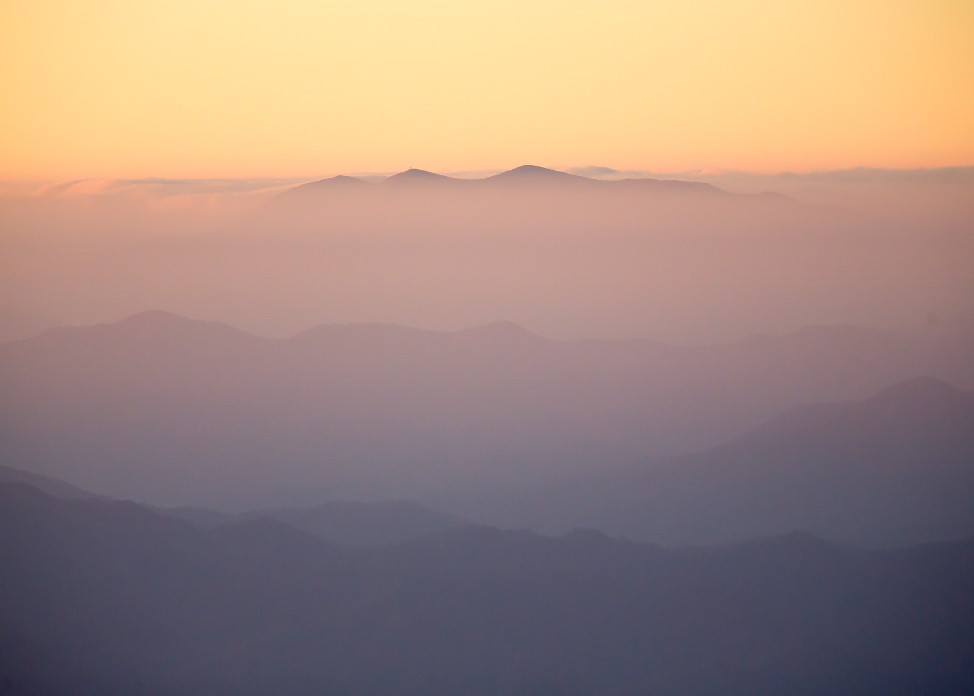 21. view from Clingmans Dome, Great Smoky Mountains National Park, Tennessee