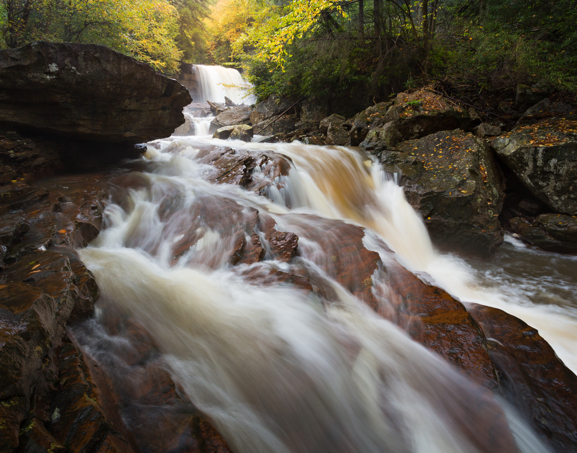 50. Douglas Falls, Monongahela National Forest, West Virginia
