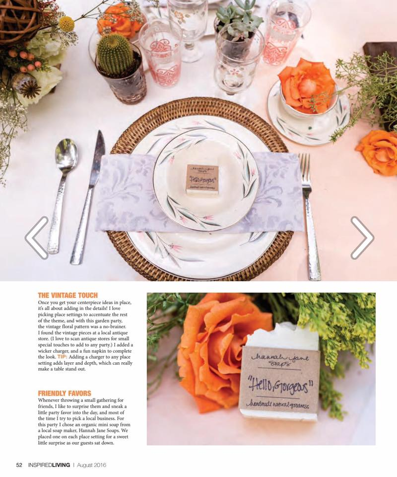 "I love this set-up, for obvious reasons…so gorgeous! I love how Ashley Thunder of ATE Styling used the ""Hello, Gorgeous"" Minis in her garden party set up!  Photo Credit: Balee Images  Ashley Thunder Events Styling  Seen in Inspired Living Magazine"