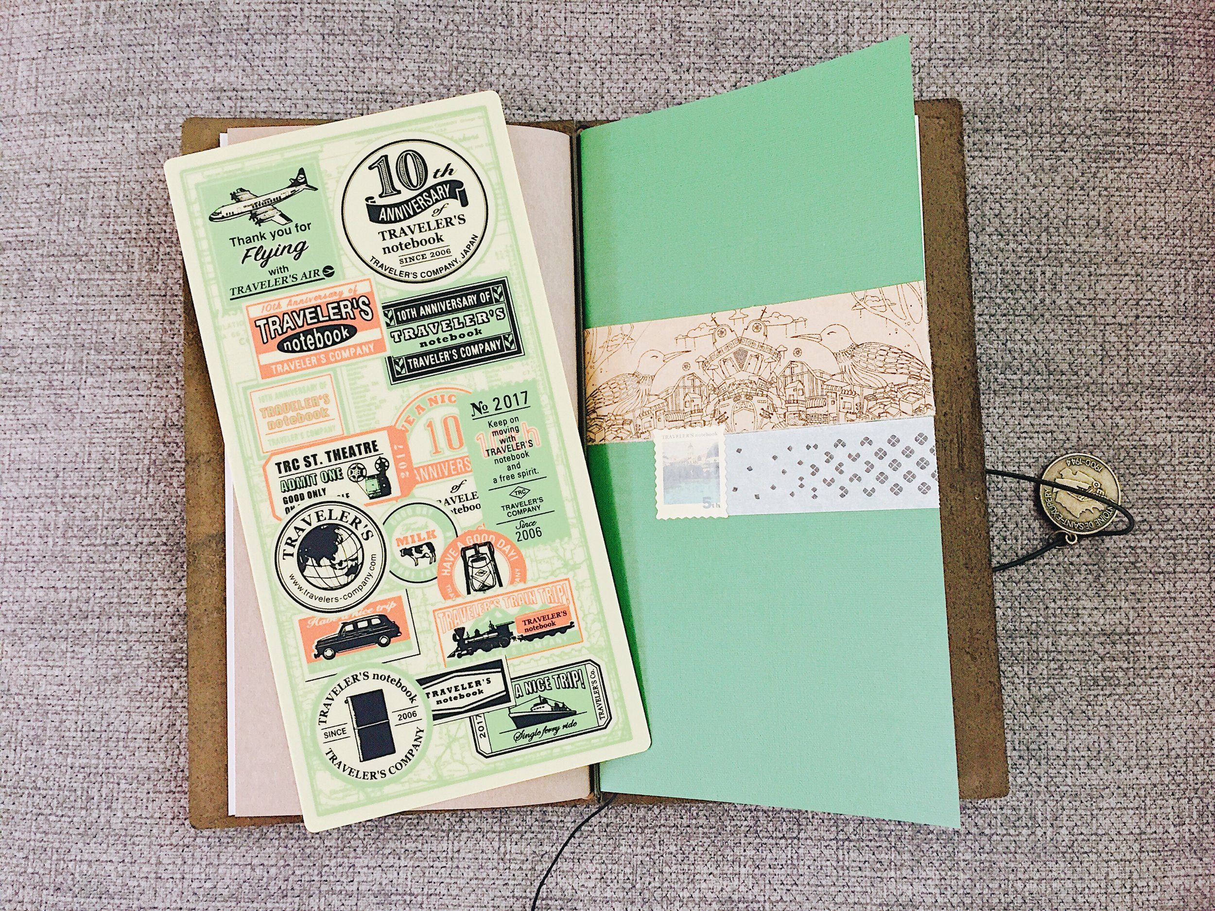 I placed the undated weekly insert after the blank insert the TN originally came with. I reused parts of the packaging to decorate the front of the insert, which I found to be a more unique way to embellish it than using my washi tapes.