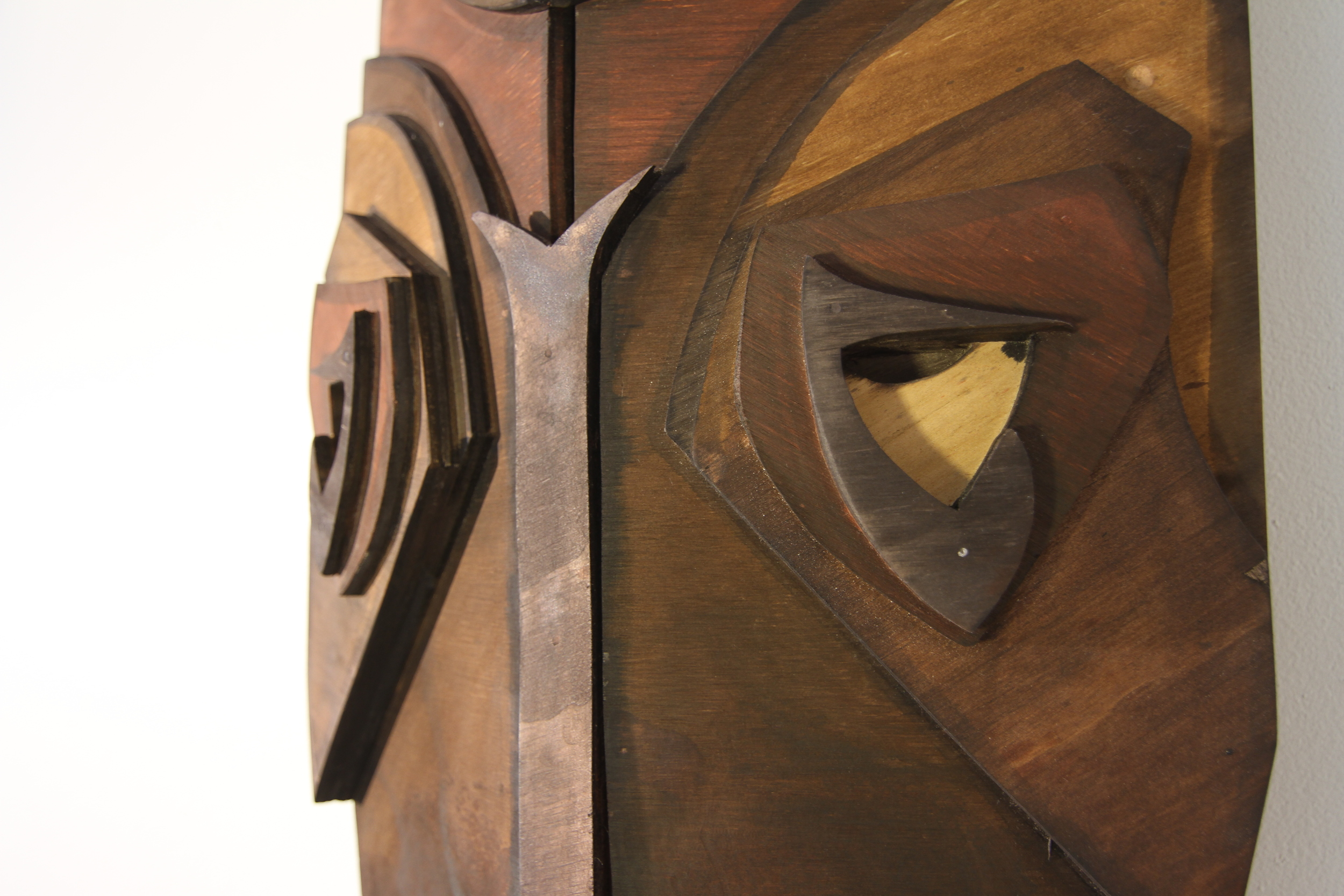 2012, Timber, found objects, LED, oil stain, 110x32x28cm, Private collection, Photograph by Michael Herman
