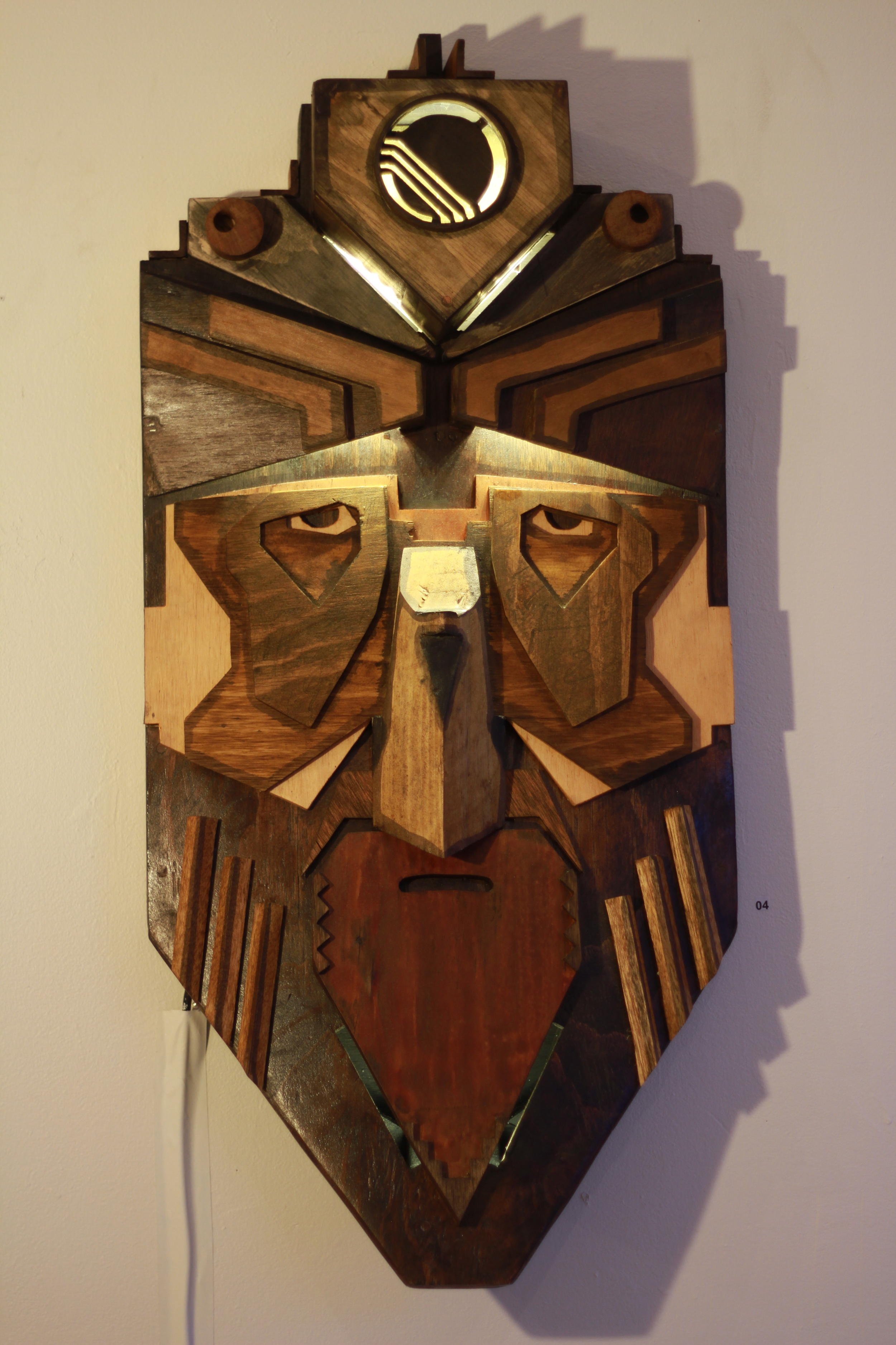2012, Timber, brass, LED, oil stain, 85x48x24cm, photograph by Michael Herman.