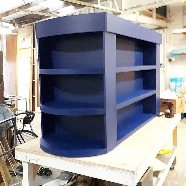 This Liquor cabinet/ bar topper designed and built by FEATHER EDGE will be hanging on top of the bars we built for Sydney Film Festival and @technicaleventservices this week.  we love bold curves and a solid construction. . .. #curvedbar #redblockdesign #sydneyfilmfestival #TES #hitthebar #designershelving #eventconstructionsydney #bespokefurnituresydney #featheredge