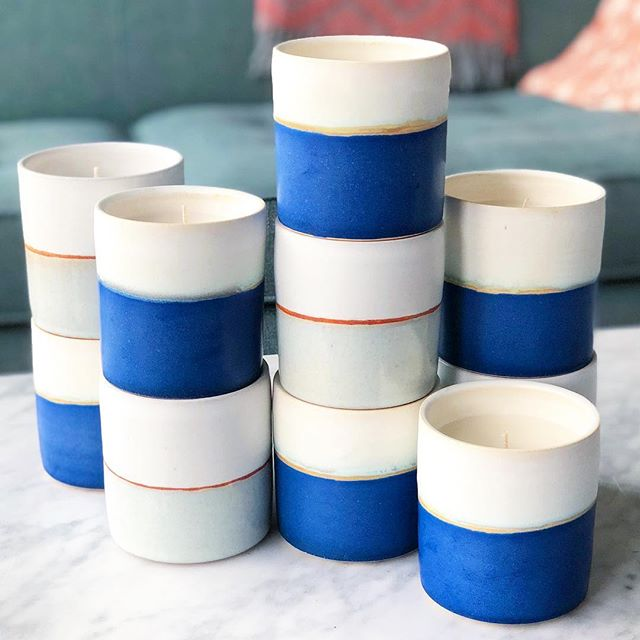 Ok friends, for those that have asked me about buying the candles I've been working on, I can finally share the news - these are available only through the @anthropologie store. Specifically, their website. Just search for Fenway Clayworks or Snowmass Candle to find them. Such a fun project - and hopefully more like it down the road.