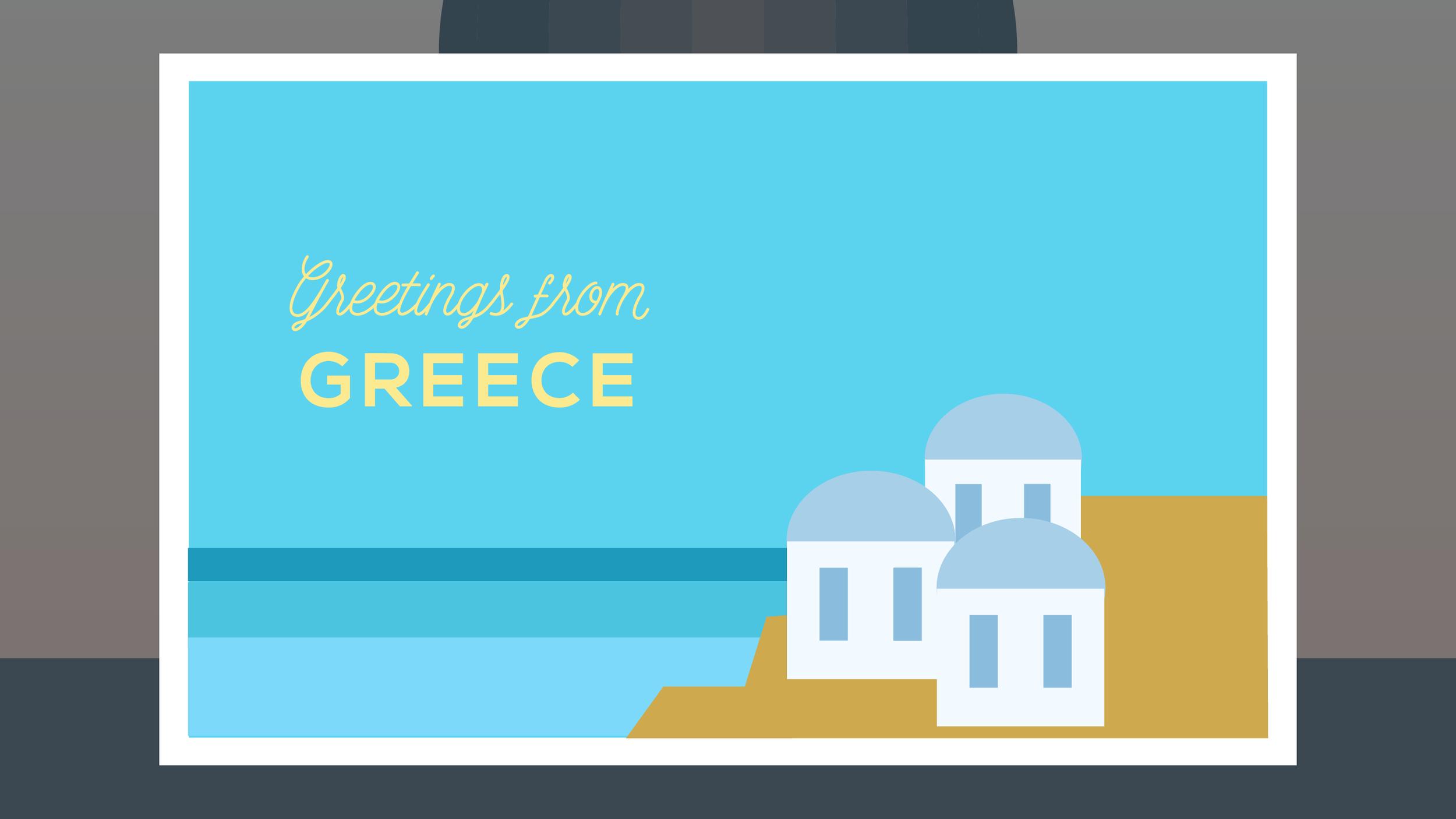 Postcard Concept Illustration