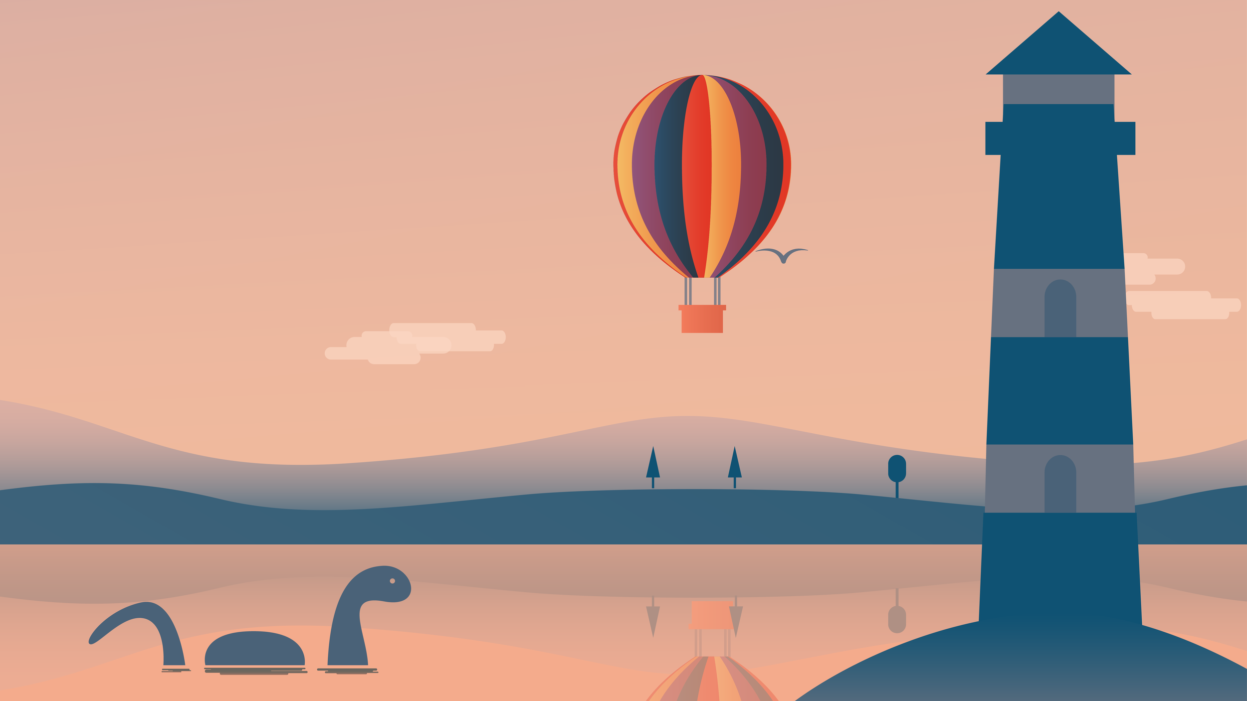 Cropped View of Scenic Illustration