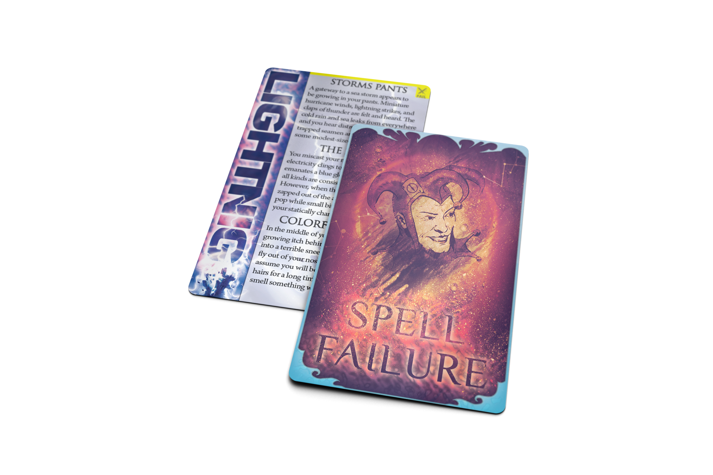 Includes spell failures