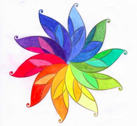 Coloured mandala (WEBCO's logo)