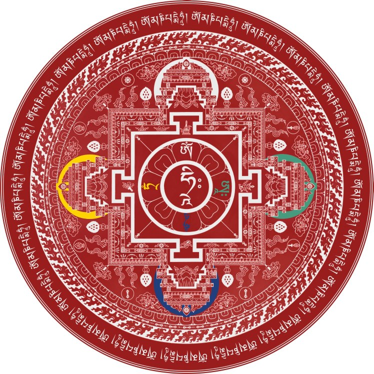 Compassion Mandala by Andy Weber of Andy Weber Studios