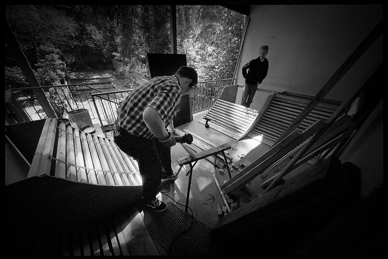 Building the Death Trap ramp, Enmore, NSW, Silver Gelatin Print, 50.8cm x 60.1cm, 1/5
