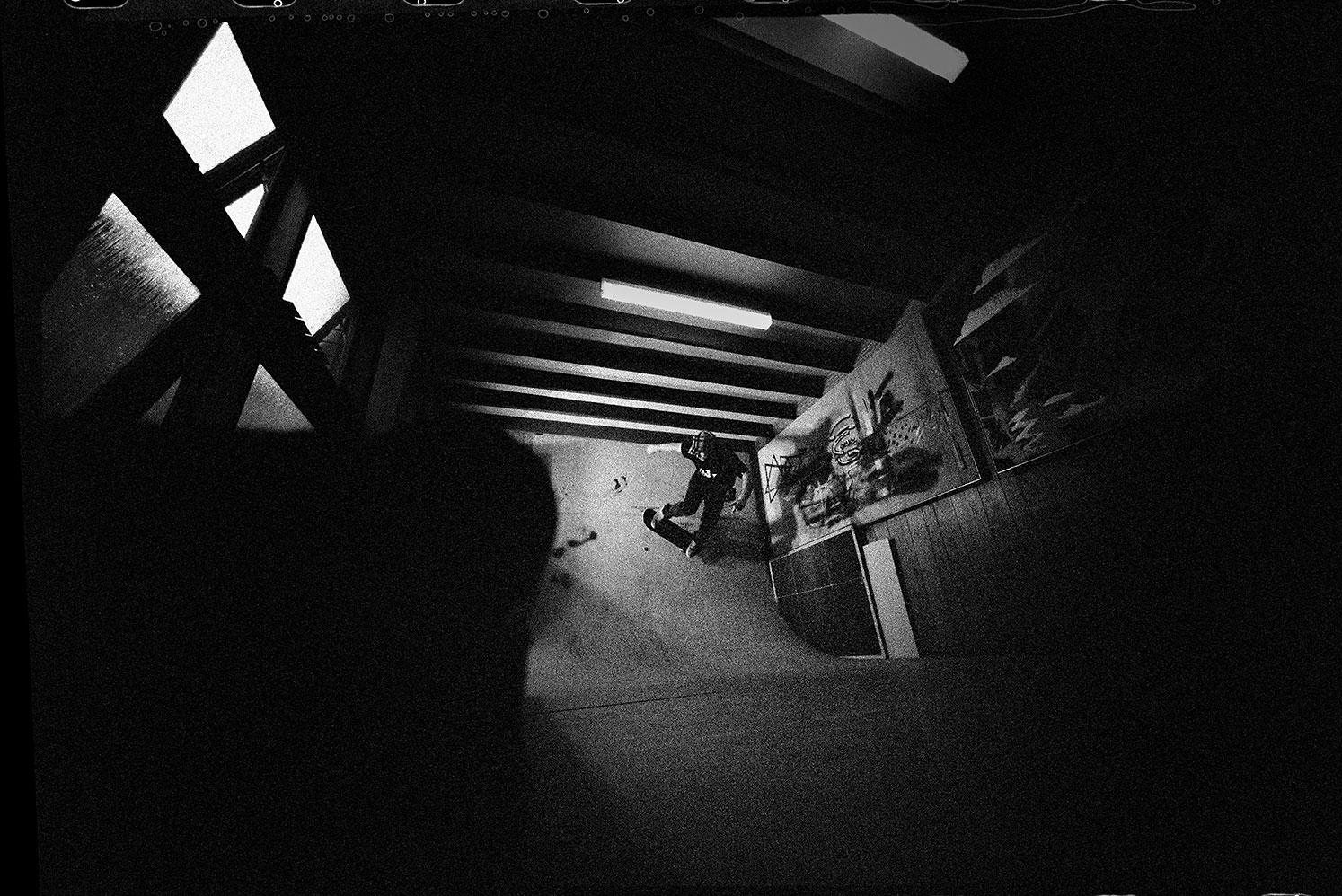 Chris Pond, Lounge Room Wallride, Frenchs Forest, NSW, Silver Gelatin Print, 50.8cm x 60.1cm, 1/5