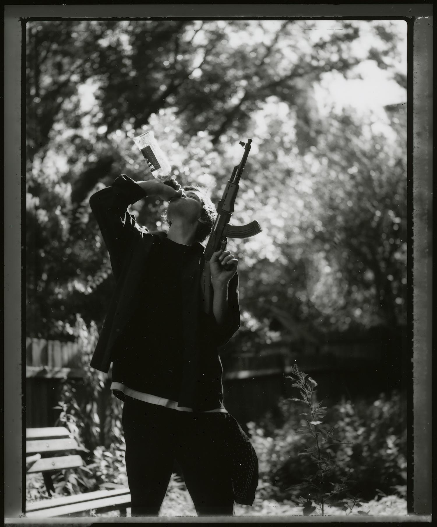 <i>Lynch</i>, 2008, Polaroid 665, 10.8 x 8.5 cm