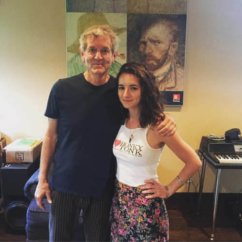 Michaela w/Rodney Crowell, who was kind enough to contribute vocals to a new song!