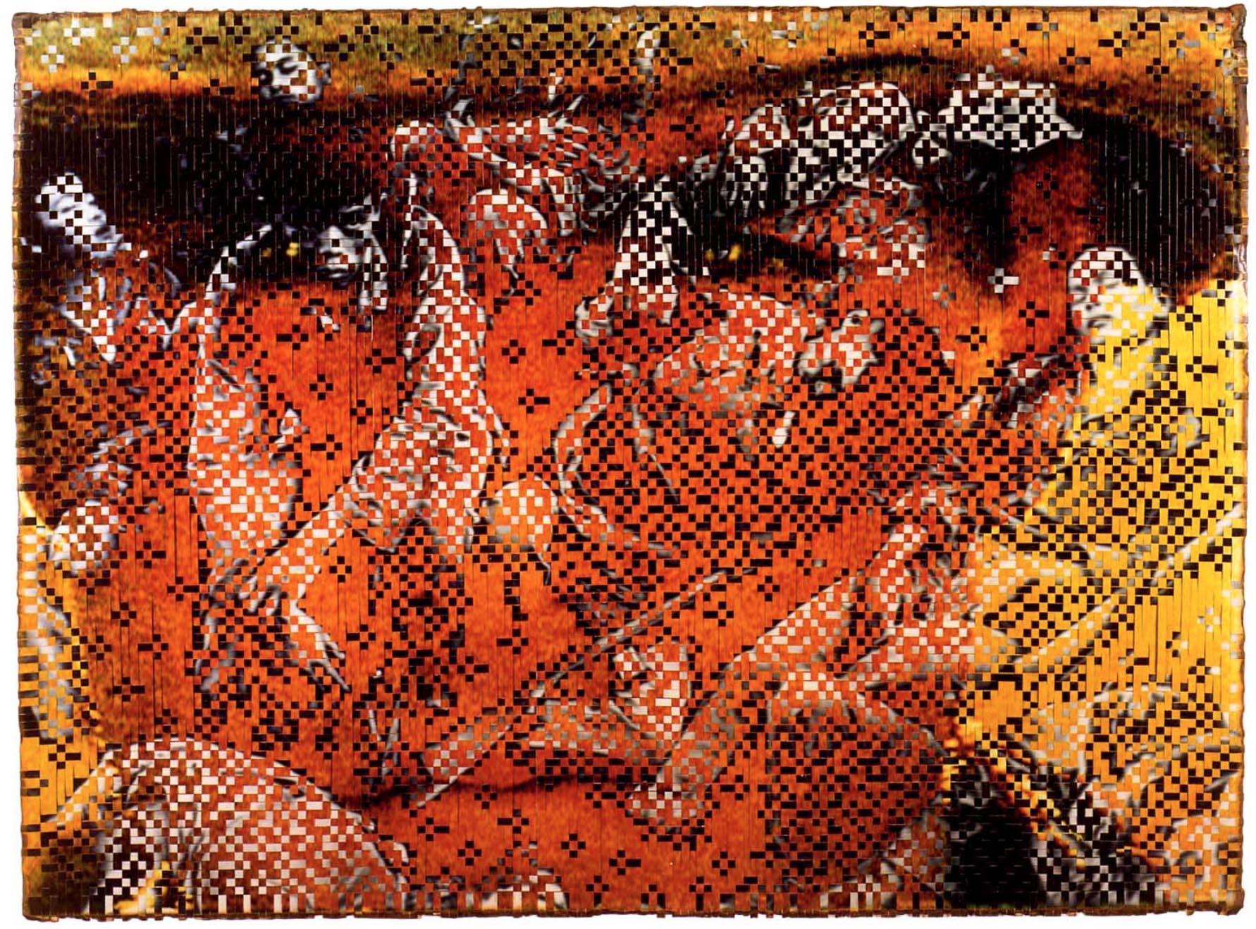 Dinh Q Le,  The Persistence of Memory , 2007, 120cm x 160 cm , colour photograph, linen tape