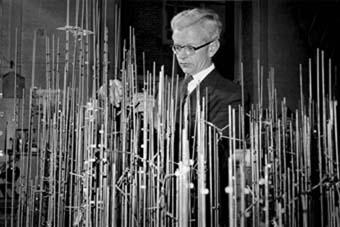 Sir John Kendrew at work revealing the structure of myoglobin