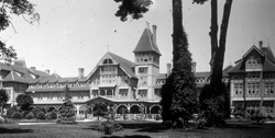 The Hotel Del Monte, Santa Cruz tourism's nemesis. This long-lived hotel (1880-WWII) set the tone for Monterey tourism and lifestyle and by default that of Santa Cruz. The hotel and grounds are now the Naval Postgraduate School