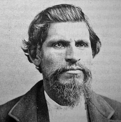 Tiburcio Vasquez, 1874. Vasquez's personality was developed from the late 1840s into the 1850s, and the drought of the mid-1850s contributed to the violence in the region. Vasquez was a product of that period. Photo credit: John Boesseneker