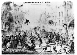 A graphic depiction of the October earthquake in San Francisco.