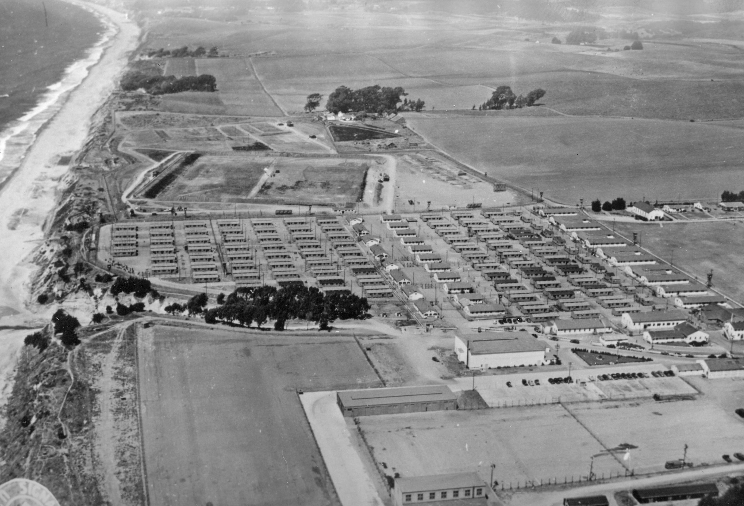 One of the earliest promising efforts to establish a county-wide junior college in Santa Cruz County was in 1948 when the Federal government offered Camp McQuaide as war surplus property for…$1.00. The State Department of Education nixed the idea saying it was too remote from most of the county's population.