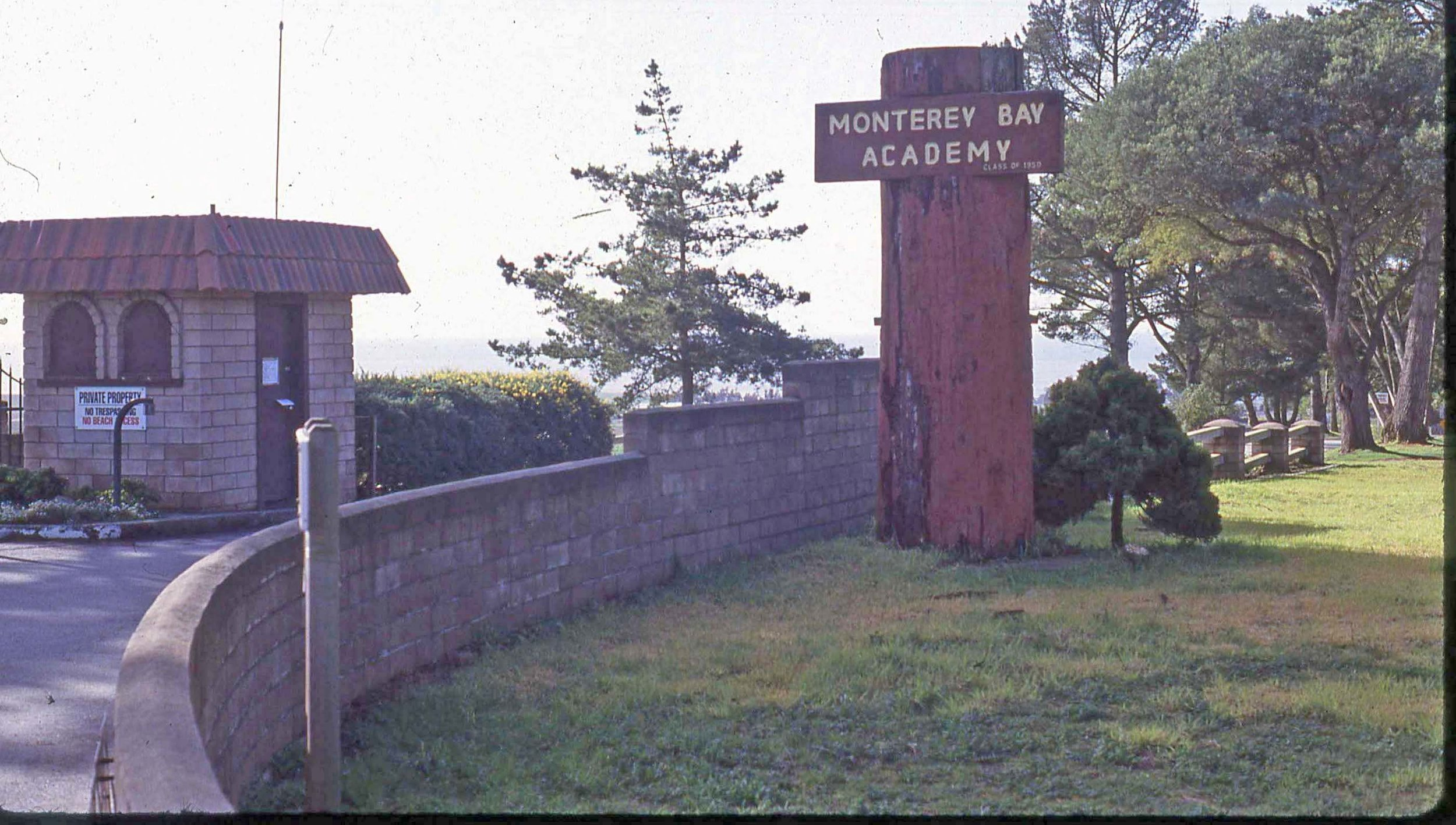 The Camp McQuaide property was eventually sold to the Seventh Day Adventist church that established Monterey Bay Academy, a boarding high school attracting students from all over the world